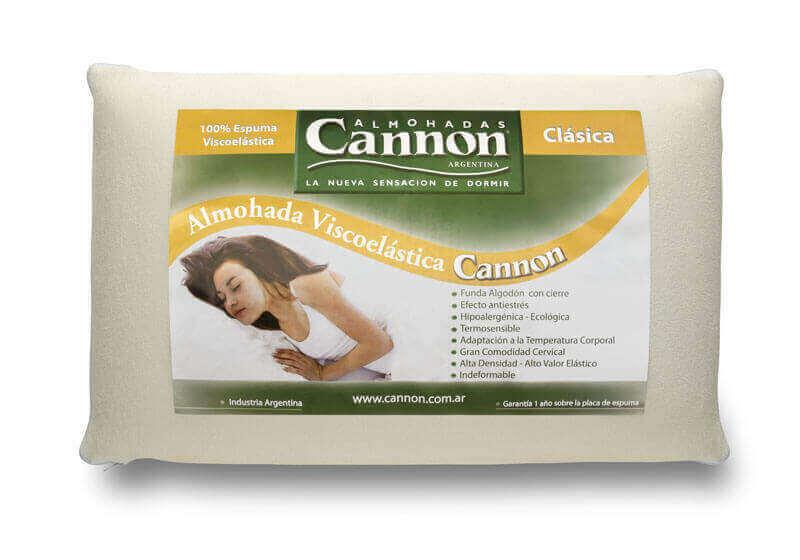 Almohada  Cannon Visco clasica 0,70 x 0,40 x 8