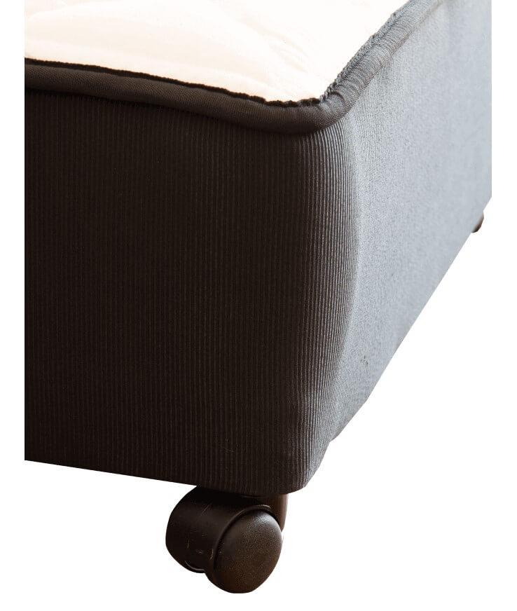 Sommier con cama auxiliar  Dual Black de 0,90 x 2,05 x 65