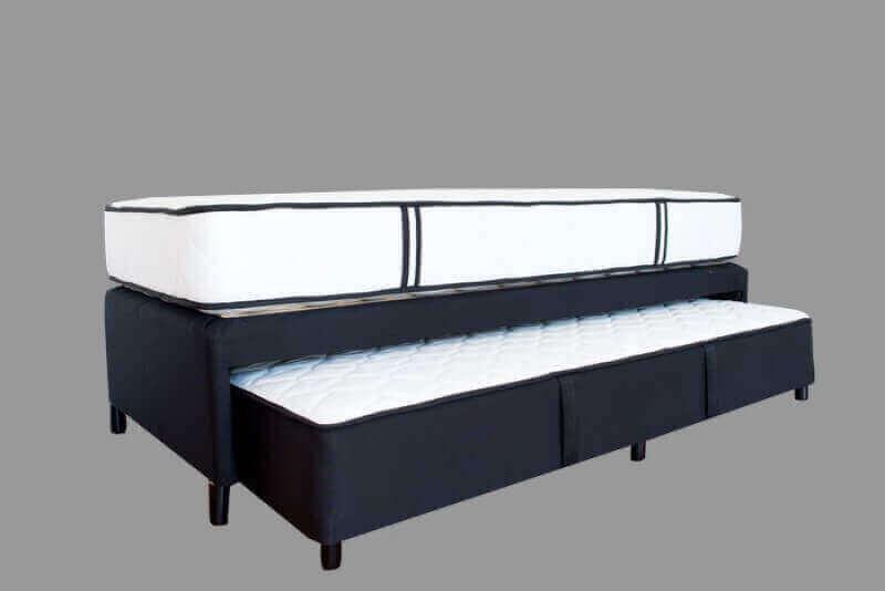 Sommier con cama auxiliar  Dual de 0,90 x 2,05 x 65