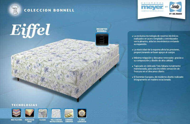 Colchón con Sommier  Eifel 1,40 x 1,90 x 60