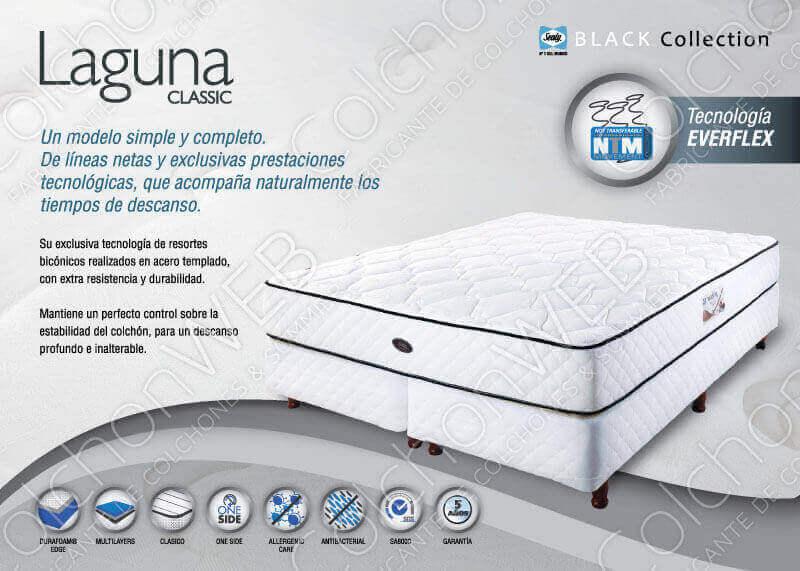 Colchón con Sommier  Laguna 1,80 x 2,00 x 60