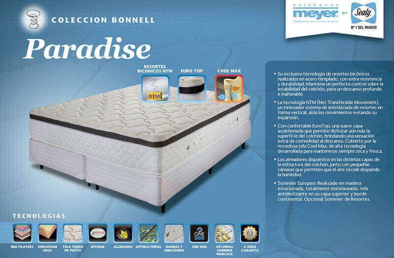 Colchón  Paradise Soft 0,80 x 1,90 x 32
