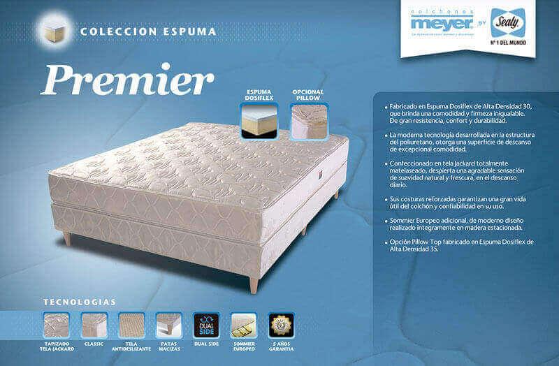 Colchón con Sommier  Premier 1,00 x 1,90 x 56